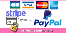 Pay via Bank, Stripe or Paypal